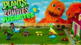 Plantas vs Zombies - Revisión de juguete para niños con animación de dibujos animados muy gracioso