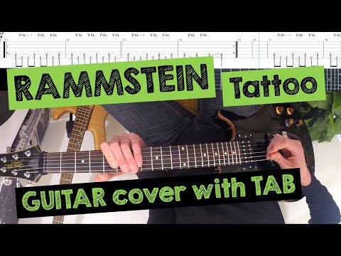 ? RAMMSTEIN - Tattoo (FPV/POV GUITAR COVER with TAB)