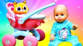 Ein neuer Puppenwagen für Baby Born. Spielzeug Video für Kinder.