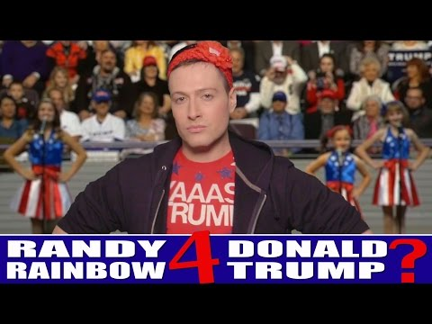 Randy Rainbow Performs at a Donald Trump Rally