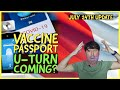 UPDATE! Vaccine passport U-turn? Travel bubbles? Facial recognition? July 24th Travel ban Update