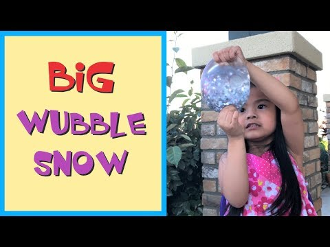 BIG WUBBLE FULLA SNOW UNBOXING AND TOY REVIEW - SKY'S TOY HOUSE