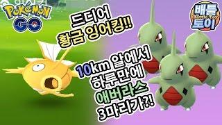 애버라스  - (포켓몬스터) - 포켓몬 고 황금 잉어킹 드디어 발견 & 대량 알까기 하루만에 애버라스 3마리?! 정말일까? [배틀토이] Pokemon GO