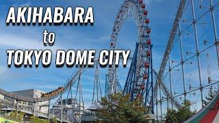 Walking from Akihabara to Tokyo Dome City! Gachapon to Big Amusement-Park! Let's Enjoy Sunday!