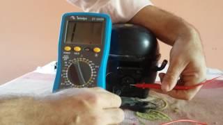 Testando elétrica das bobinas do motor de geladeira. Parte 1