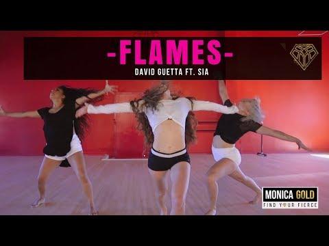 FLAMES- David Guetta ft. Sia II #FINDYOURFIERCE by MONICA GOLD