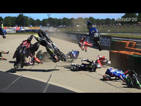 MotoGP 20 - Red Flag Crashes
