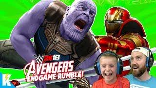 Avengers: ENDGAME in WWE 2k19 (Royal Rumble Match) K-City Gaming