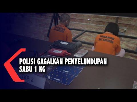 Polisi Gagalkan Penyelundupan Sabu 1 Kg Di Makassar
