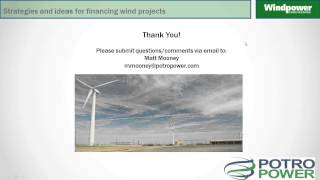 Financing a Wind Project (Webinar)