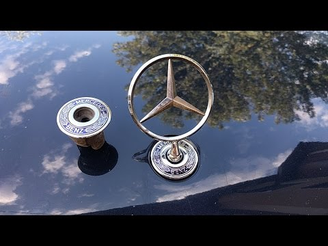 Mercedes benz star hood emblem removal and installation with