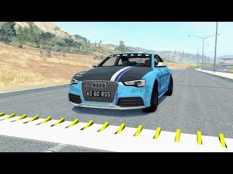 Spike Strip High Speed Crashes #34 – BeamNG Drive