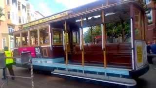 США. Символ Сан-Франциско -  Канатный трамвай. Технология 19 века