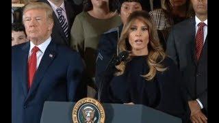 Melania Trump Shares Opioid Abuse Stories - Full Speech