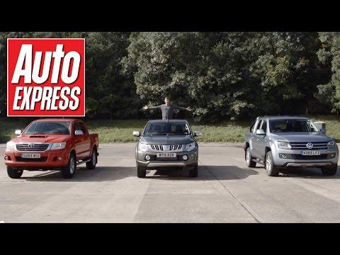 Mitsubishi L200 (Triton) vs Toyota HiLux vs VW Amarok - drag race