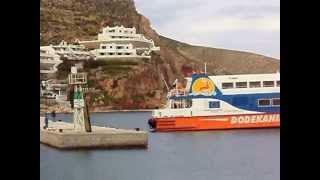 GREECE. AEGEAN SEA. SEA ARRIVAL TILOS  ISLAND PORT OF LIVADIA.
