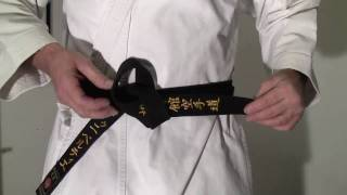 Comment bien attacher sa ceinture de Karaté Shotokan