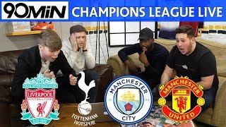 LIVE CHAMPIONS LEAGUE QUARTER FINAL DRAW! Liverpool Vs Porto! Spurs Vs Man City! Barca Vs Man United