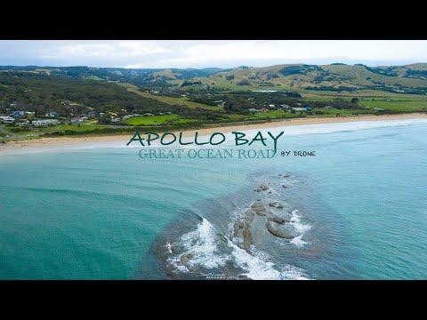 Aerial shots of Apollo Bay