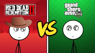 GTA V Gamers VS Red Dead Redemption 2 Gamers