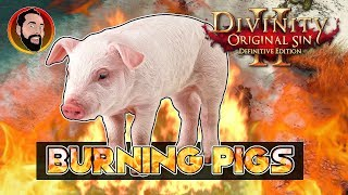 Burning Pigs - How To Remove Curse - Divinity: Original Sin 2 - PS4