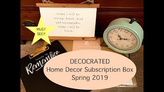 Decocrated - Spring 2019: NEW Quarterly Home Decor Subscription Box! Useful, Beautiful & Creative!!