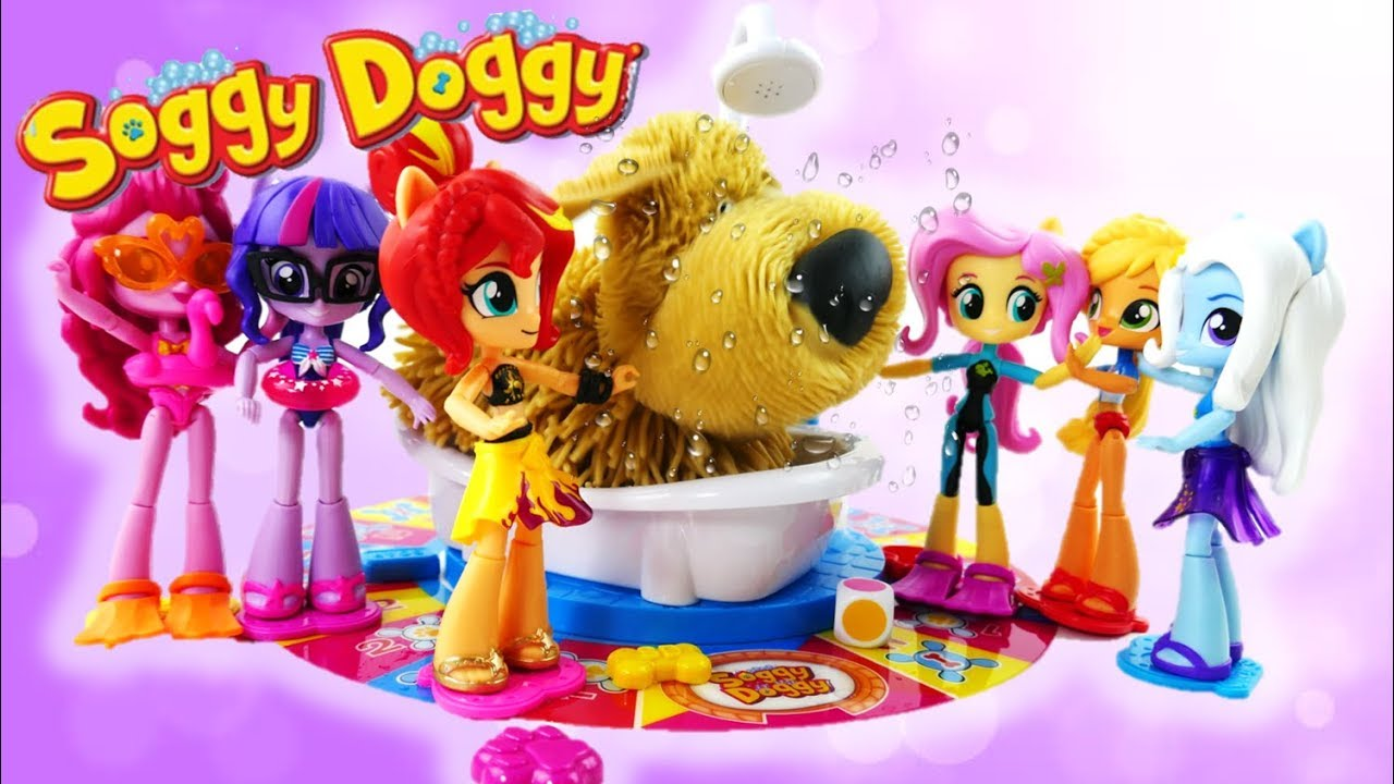 MLP Equestria Girls Minis Play Soggy Doggy Board Game - Forgotten Friendship Swimsuits