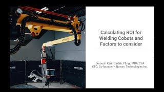 Calculating ROI for Welding Cobots and Factors to Consider