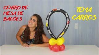 Neste vídeo você aprende passo a passo como fazer um lindo centro de mesa feito de balões (bexigas) para sua festinha no tema CARROS!!!!! www.amofestas.com www.facebook.com/amofestas