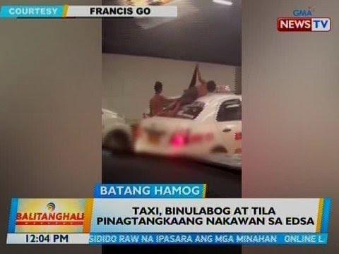 [GMA]  BT: Taxi, binulabog at tila pinagtangkaang nakawan sa EDSA