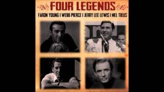 Jerry Lee Lewis - Honky Tonk Song - Faron Young, Webb Pierce , Mel Tillis ‎– Four Legends