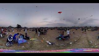 360° Video: Flying Kite at Hoc Mon Square in HCM City