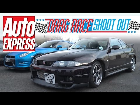 Nissan Skyline R33 GT-R vs Nissan GT-R: Drag Race Shoot-out
