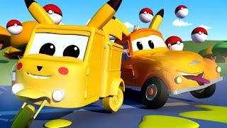 Autogaráž pro děti - Z malé Carrie je Pikachu - Tomova Autolakovna ve Městě Aut