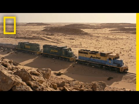 At more than 430 miles long, the Mauritania Railway has been transporting iron ore across the blistering heat of the Sahara Desert since 1963 (2018)
