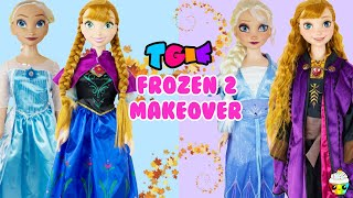 TGIF 3 Foot Doll GIANT Frozen 1 Elsa Anna Frozen 2 DIY Fun Makeover