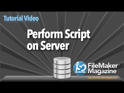 FileMaker Tutorial - Perform Script on Server