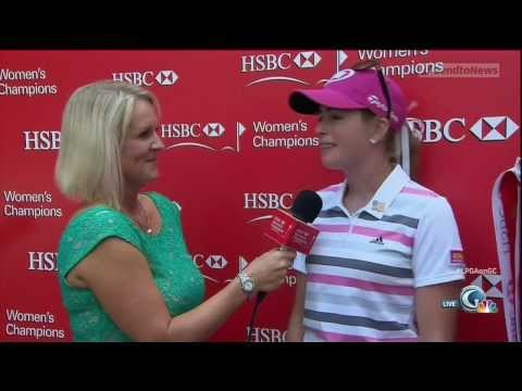 Paula Creamer Interview after winning the HSBC Women's Champions