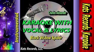 Black Widow Spider Karaoke Video With Lyric & Vocal