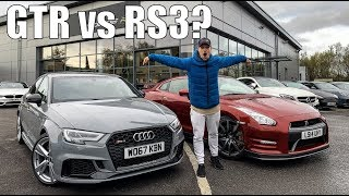 NISSAN GTR vs AUDI RS3 SALOON | £45,000