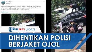 VIRAL Video Pengendara Moge Arogan Dihentikan Polisi Berjaket Ojol, Nyalinya Ciut setelah Tahu Ini