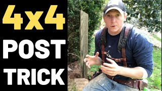 How To Set Pressure Treated 4x4 Wood Posts In Concrete (VERY STRONG!)
