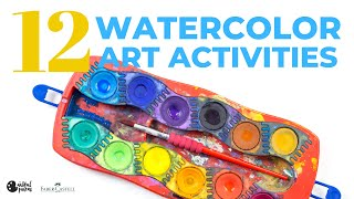 12 Awesome Watercolor Art Activities For Kids Of All Ages!
