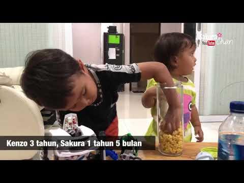 Anak belajar Mengenal Tekstur dan Hati Hati | Montessori Sakura Chan usia 1 tahun