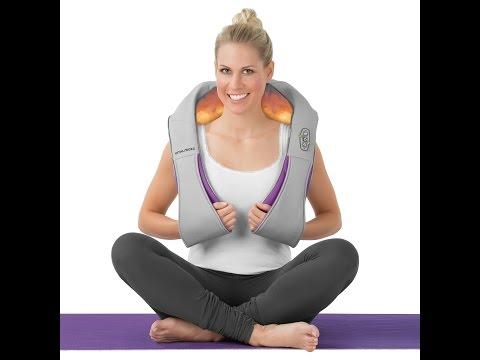 VITALmaxx Shiatsu-Massagegerät 2-tlg. in Grau/Lila (09741)   maxx-world