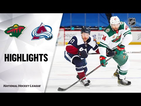 Wild @ Avalanche 2/24/21 | NHL Highlights