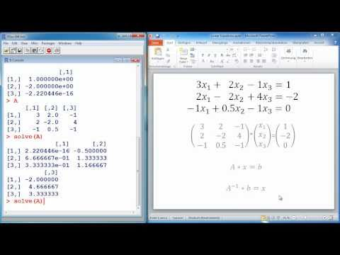 R Tutorial #7 – Solving systems of linear equations – Statistical Programming Language R