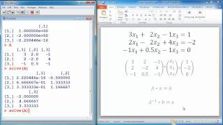 R Tutorial #7 - Solving systems of linear equations - Statistical Programming Language R