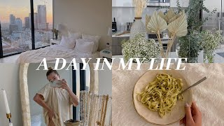 DAY IN MY LIFE in Downtown LA: Flower Market, Apartment Updates, Cozy Night In