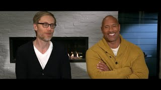 """The Rock and Stephen Merchant reveal why they made """"Fighting with My Family"""""""